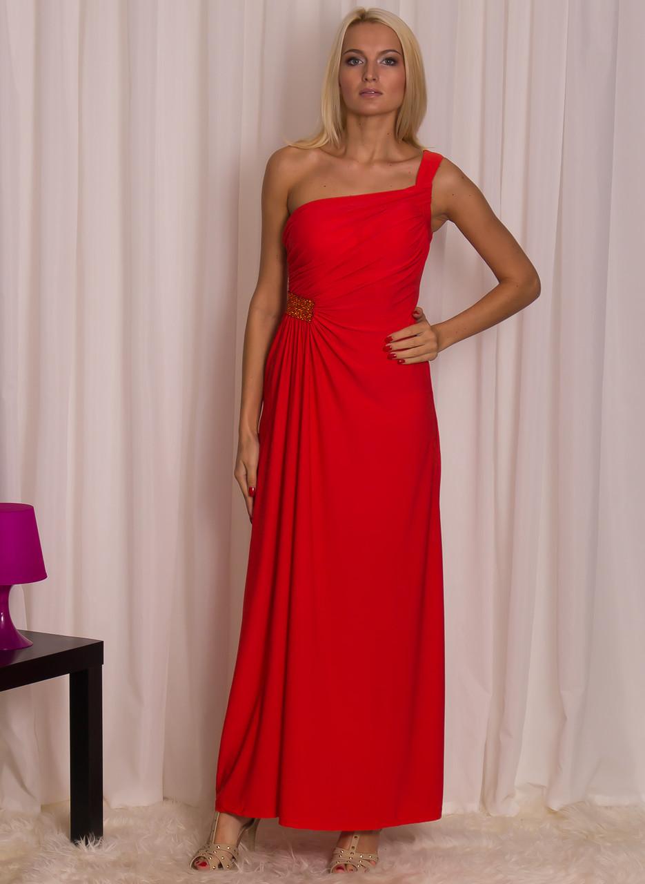 Glamadise.sk - Spoločenské dlhé šaty - jedno rameno s kamienkami na ... d0b53f68a16