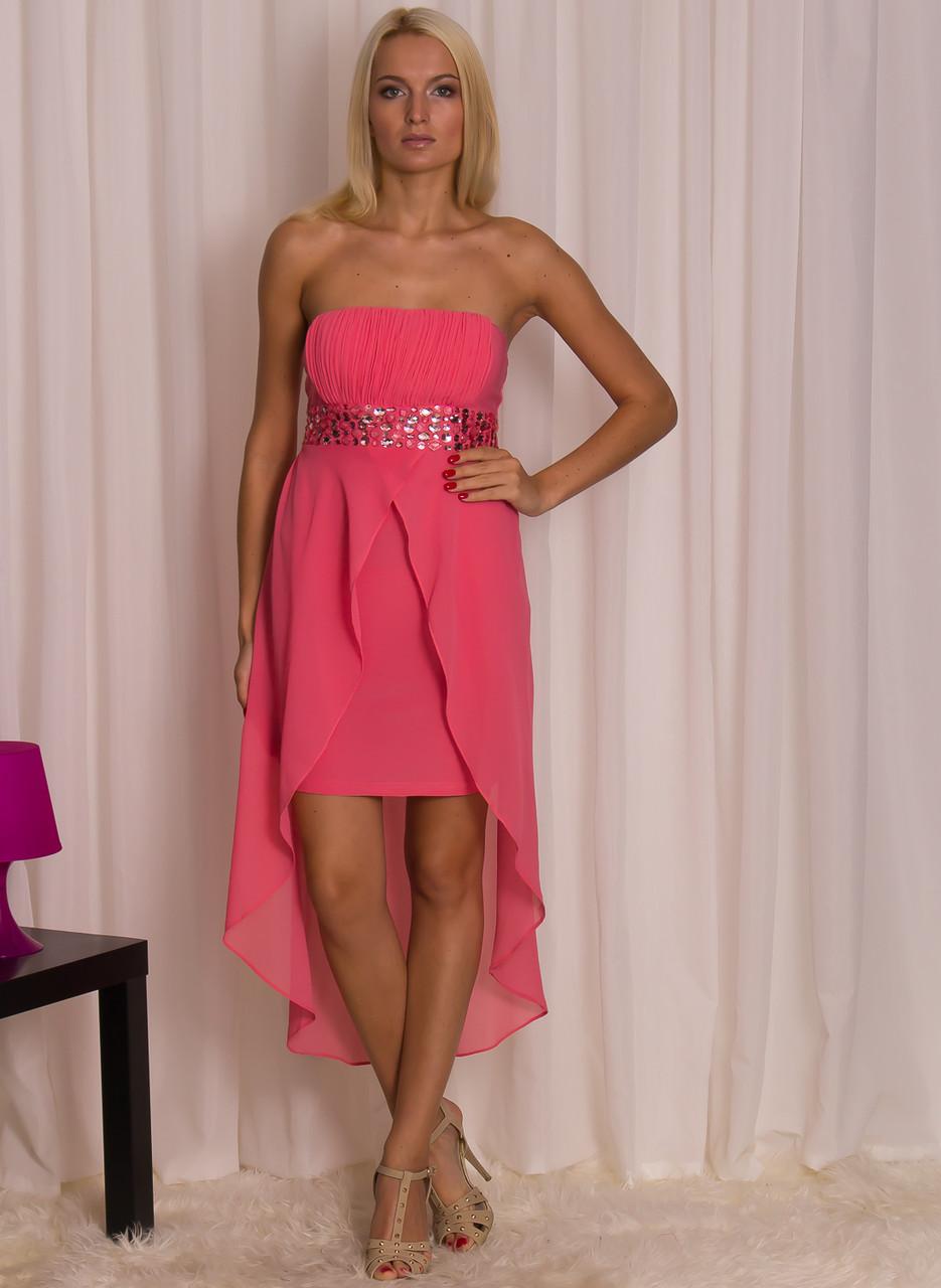Společenské krátké šaty s kamínky - růžová - Luccama - Dlouhé šaty ... 8eb69901ded