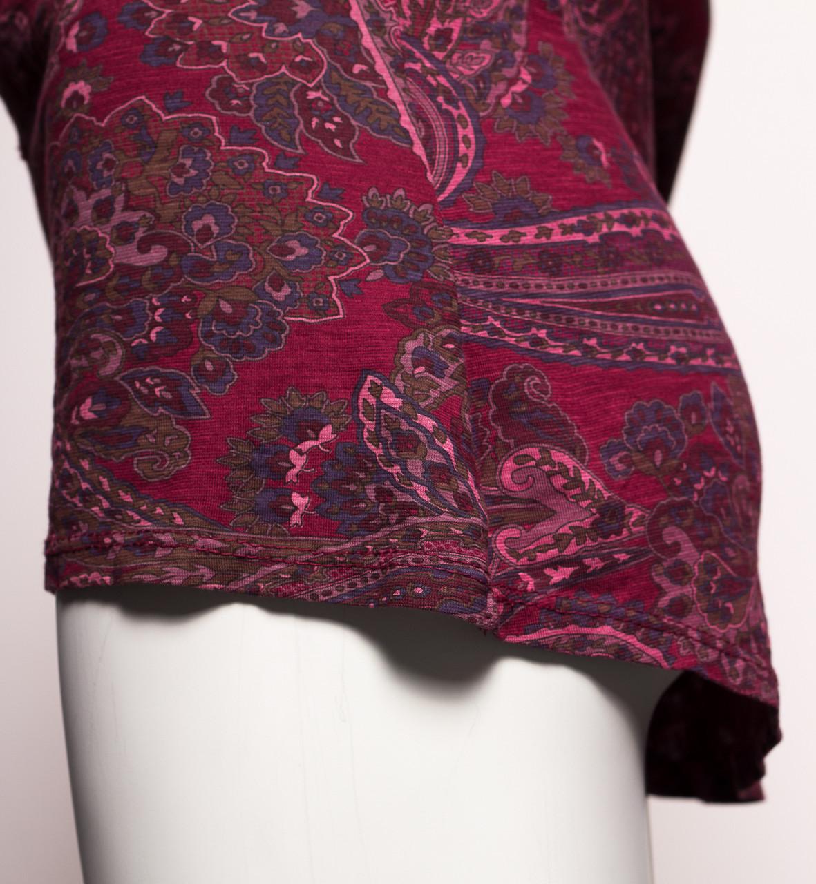 e08c77855d2 Dámské tričko s dlouhým rukávem motivem a flitry - vínová ...
