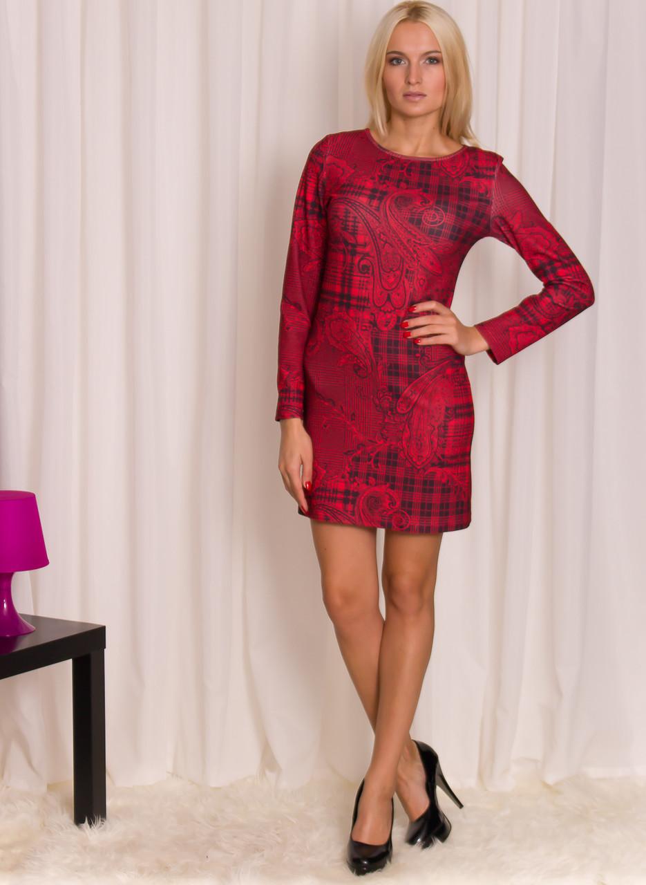 2ecc2f11ce5 Dámské červeno - černé šaty tunika se vzorem - Glamorous by Glam ...