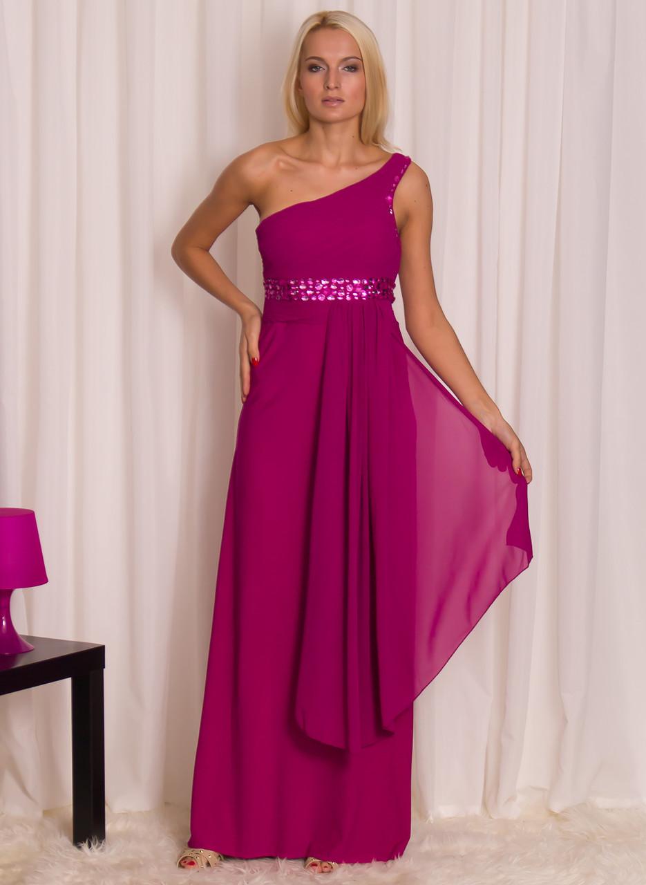 Společenské dlouhé šaty se šálem - fuchsiová - Luccama - Dlouhé šaty ... 153862c011