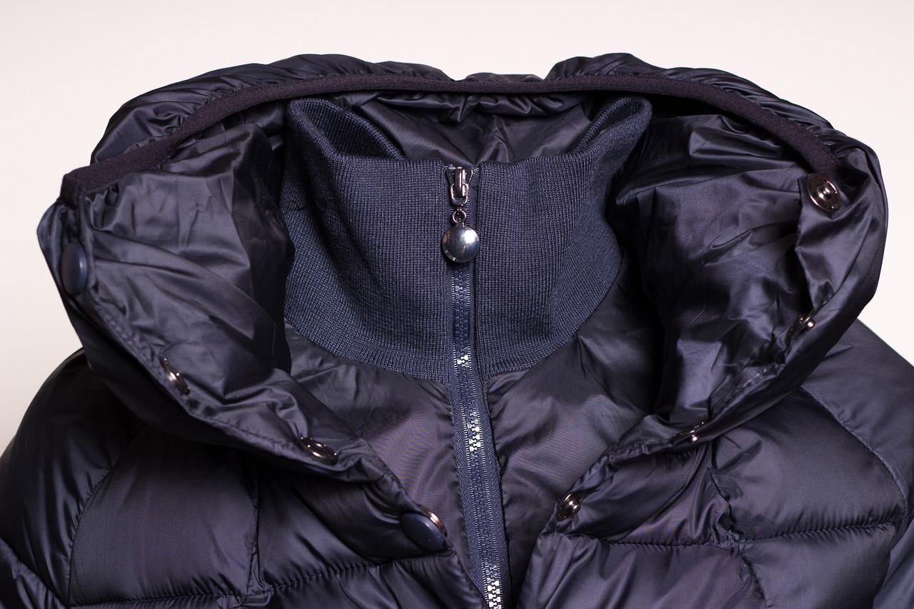 Glamadise.sk - Dámska krátka zimná bunda s lemom - modrá - Due Linee ... dbffa54efbb