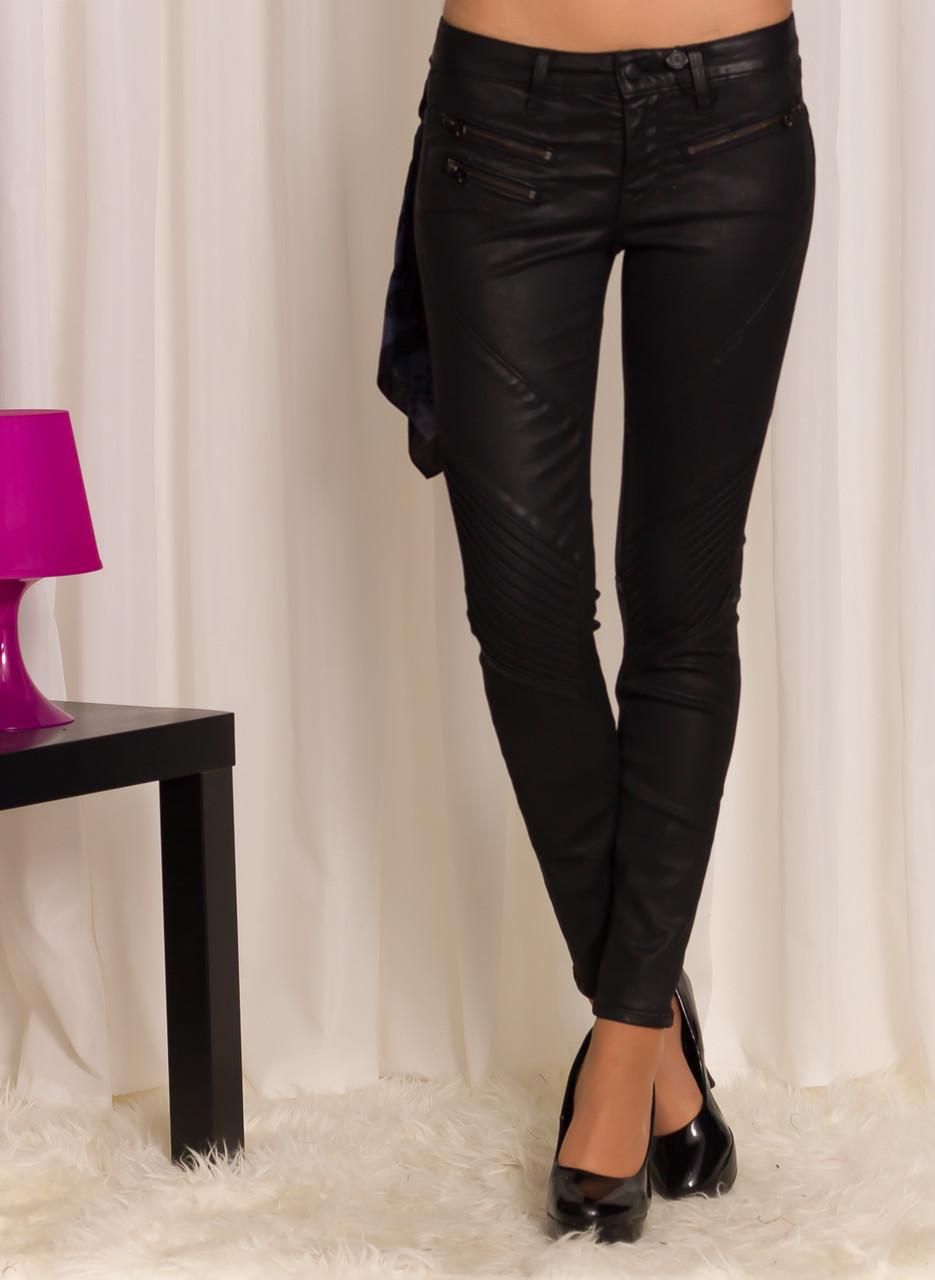 Dámské černé kalhoty slim se zipy - Better in Blue - Kalhoty ... 918033d2a0