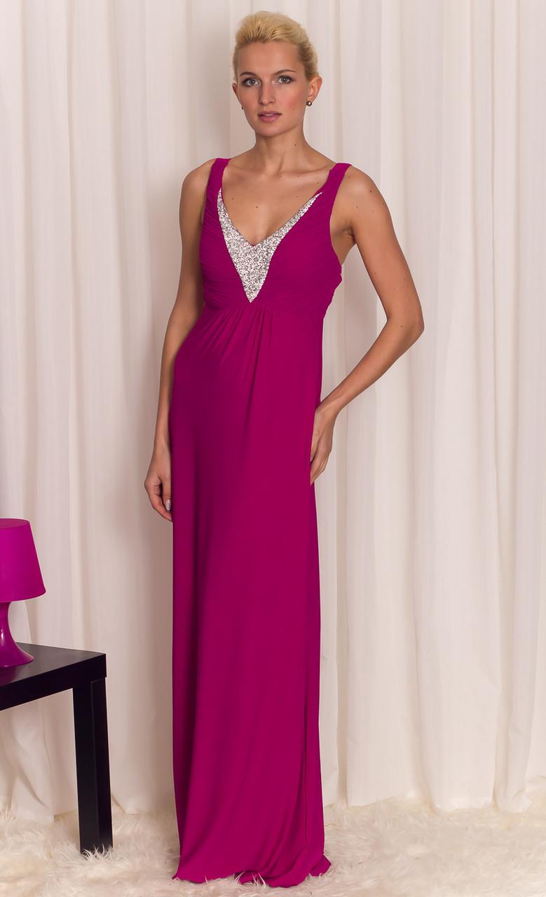 Glamadise.sk - Dámske dlhé šaty fialové - Luccama - Dlhé šaty ... f9a2960fe72