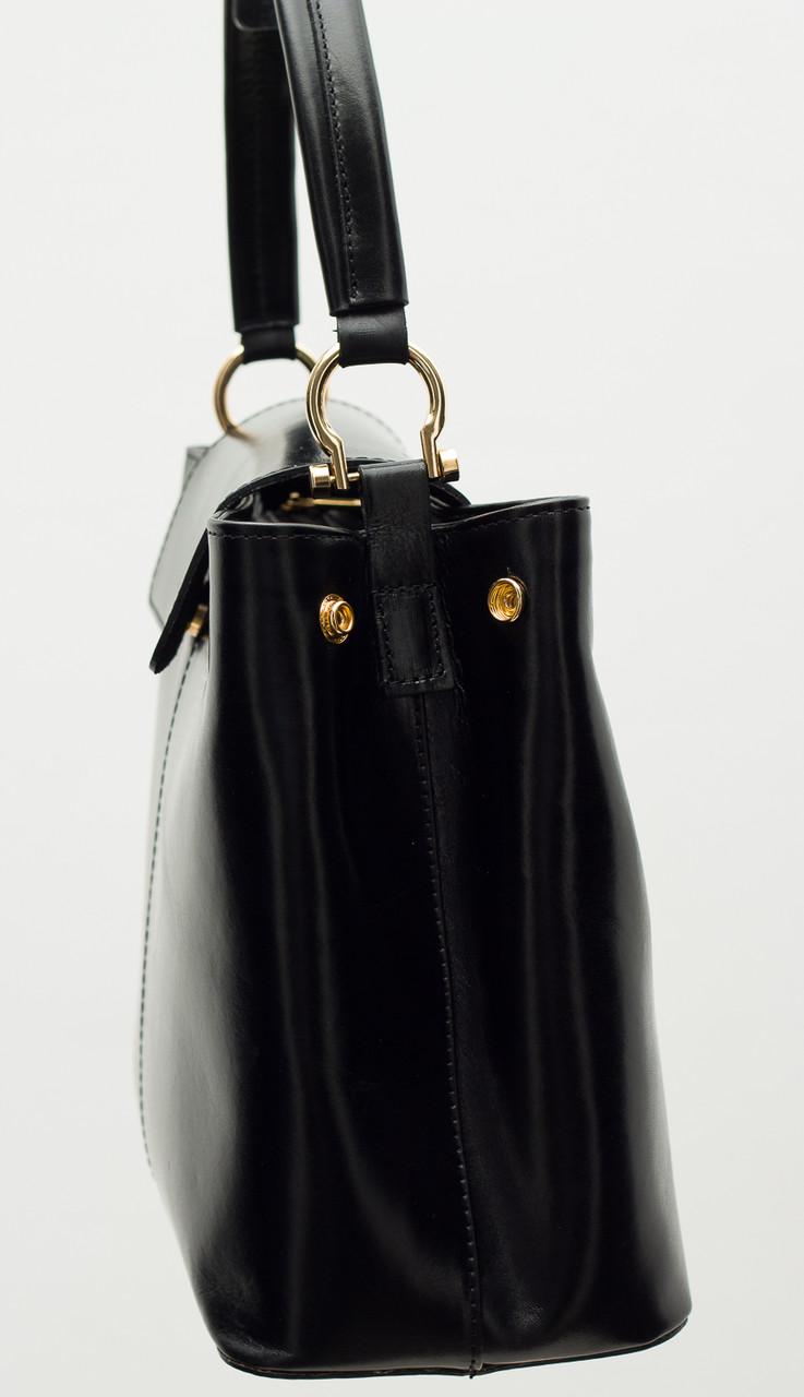 Glamadise.sk - Dámska kožená kabelka jednoduchá - čierna - Glamorous ... f823d204bbd