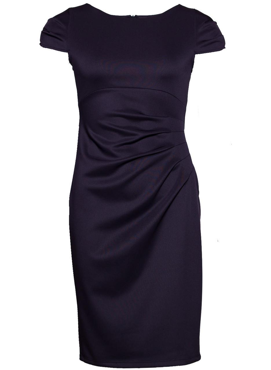 Dámské elegantní šaty s řasením na boku - modrá - Glamorous by Glam ... f41f747c61f