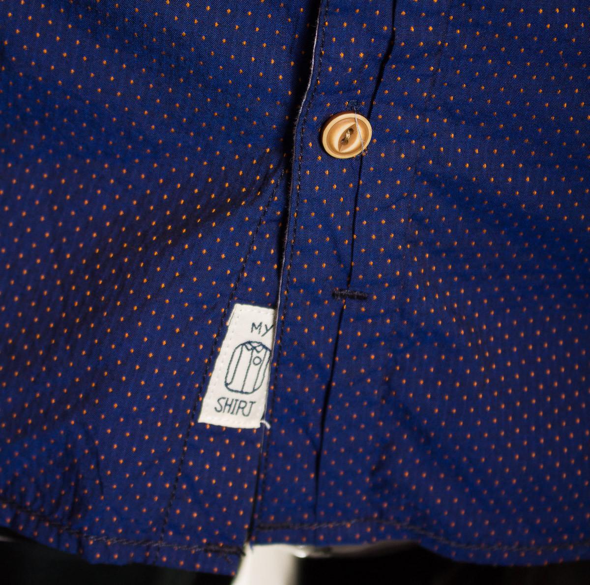 c0171038647 Pánská košile tmavě modrá - Pánské košile - Trička