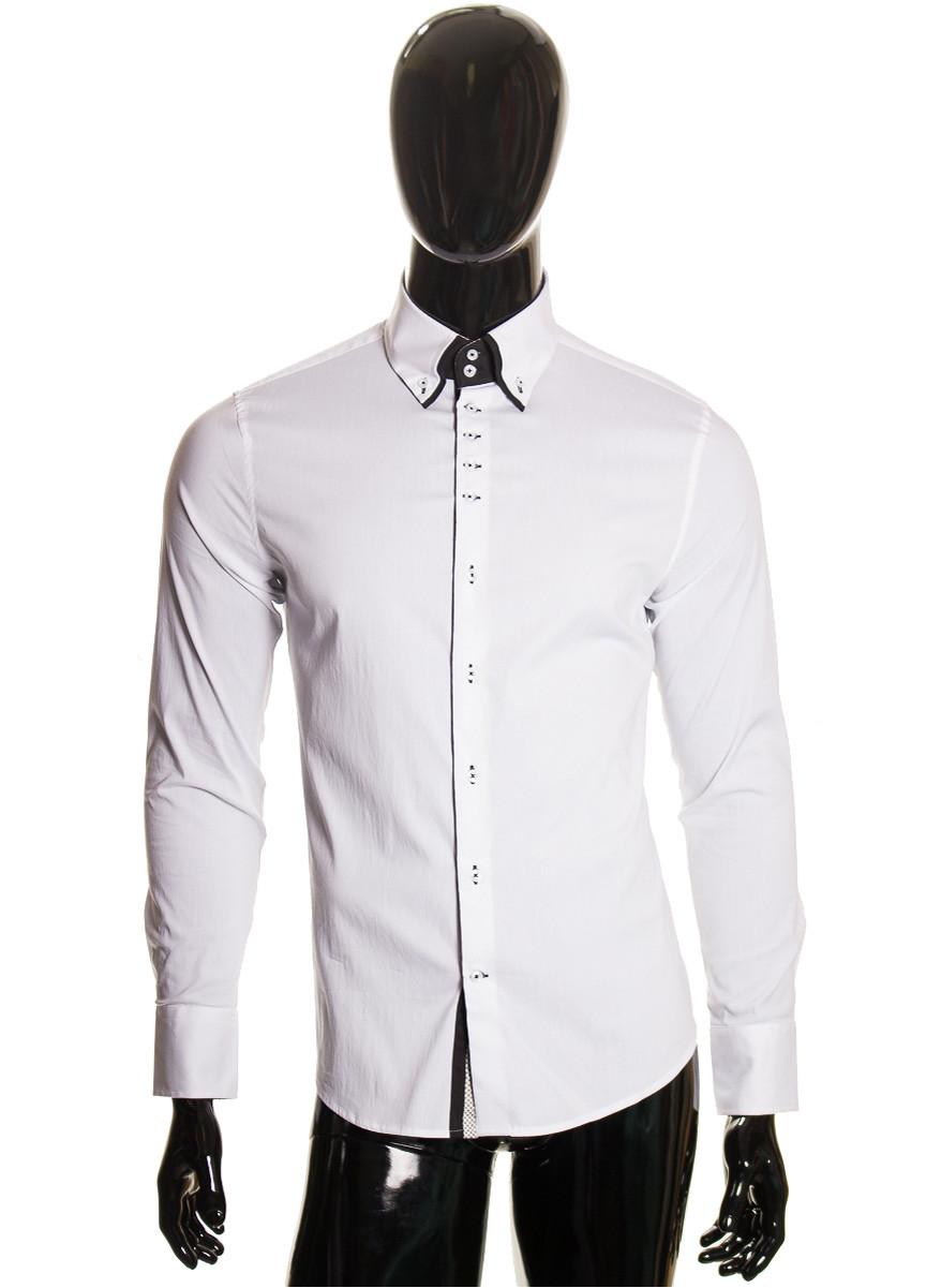 bff2fc40858 Pánská bílo černá košile kontrastní - Pánské košile - Trička