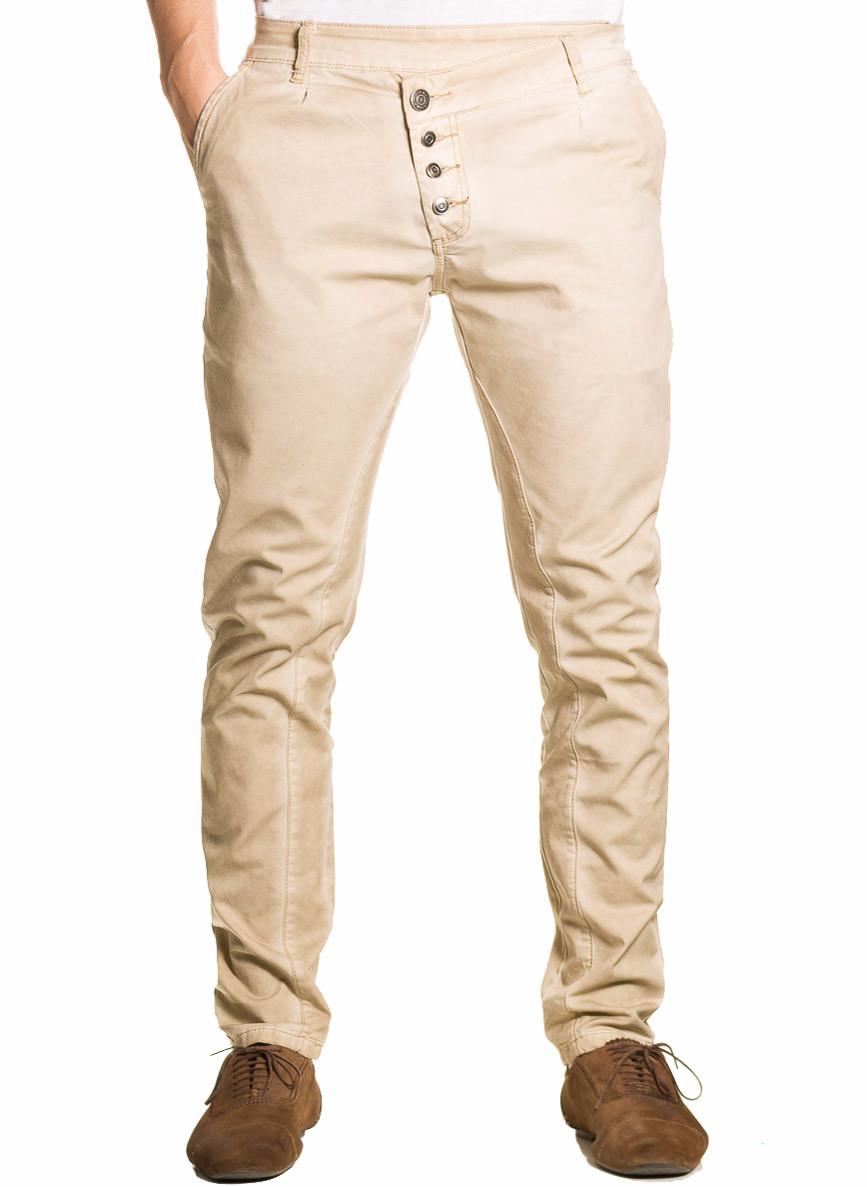 6d9792fb89f Pánské kalhoty nižší sed béžové - Jeany