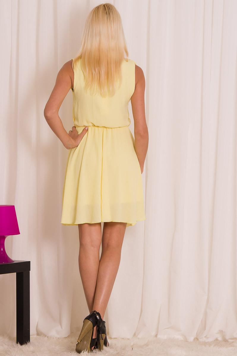 0e26a04a83b0 Glamadise.sk - Dámske letné šaty s volánikmi - žltá - Glamorous by ...