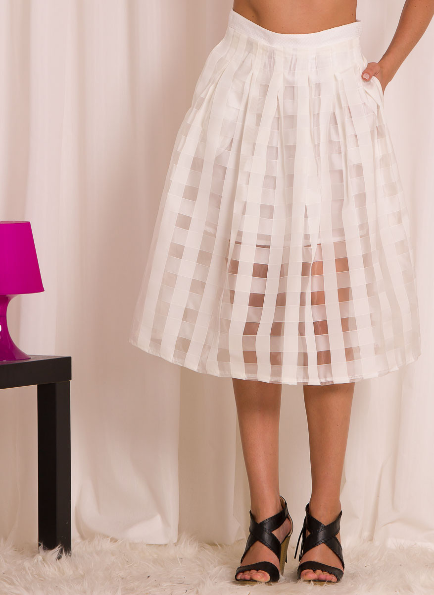 b01d349fadb Dámská delší letní sukně s pruhy - Glamorous by Glam - Sukně ...