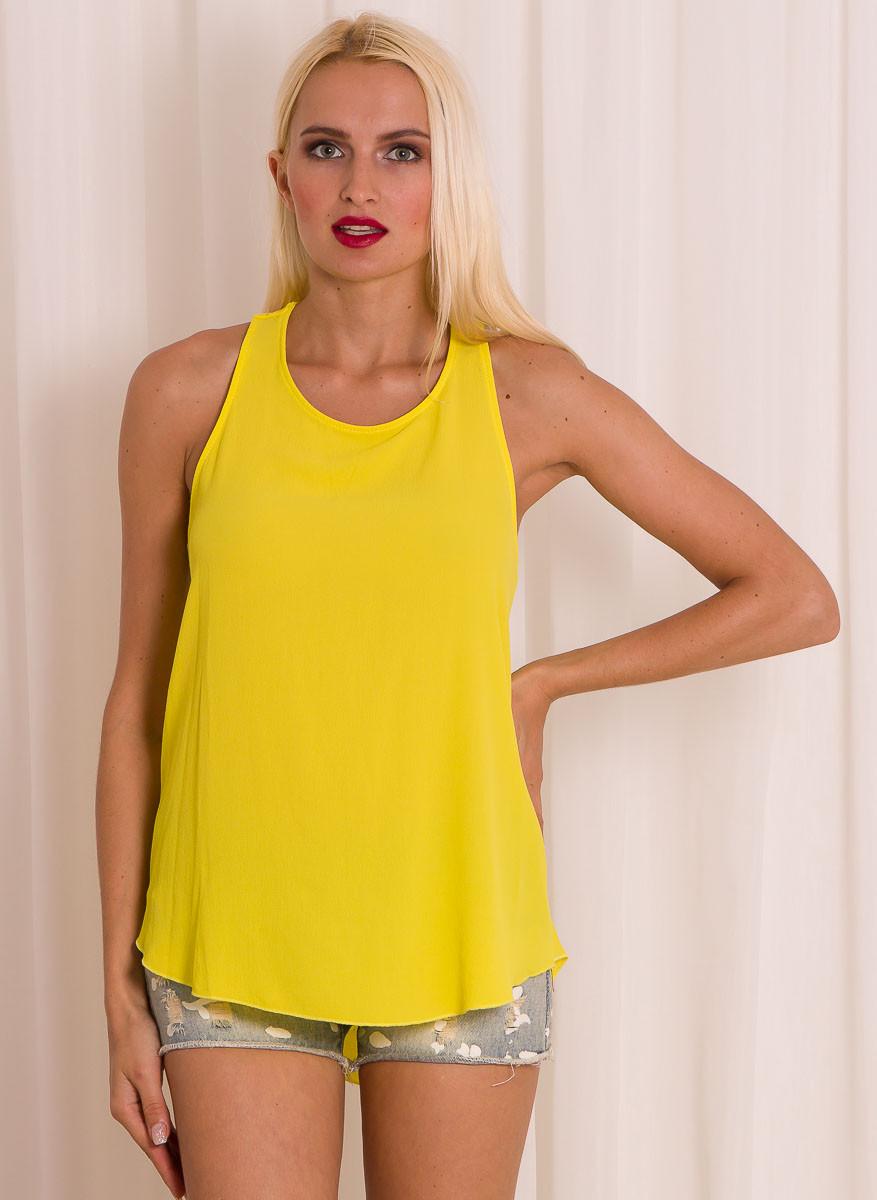 Dámský letní top - volná záda - žlutá - Glamorous by Glam - Topy a ... dddbd4ff80