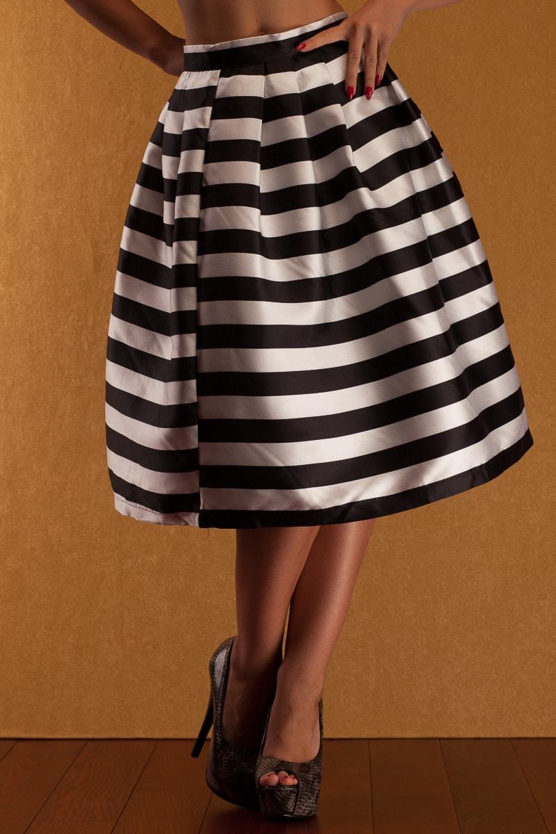 Glamadise.hu Fashion paradise - Női szoknya - Fekete-fehér ... df4f90cda5