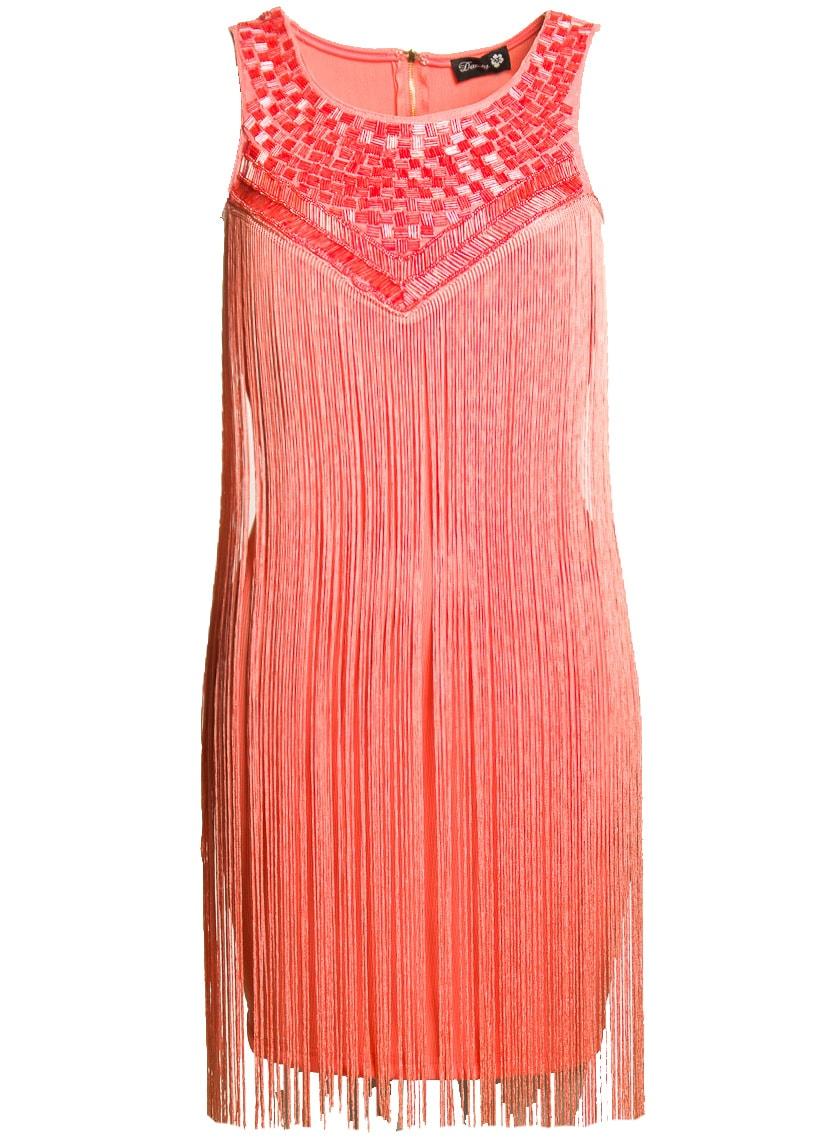 7048bc44fb99 Glamadise.sk - Dámske letné šaty so strapcami - Davity Paris - Šaty ...