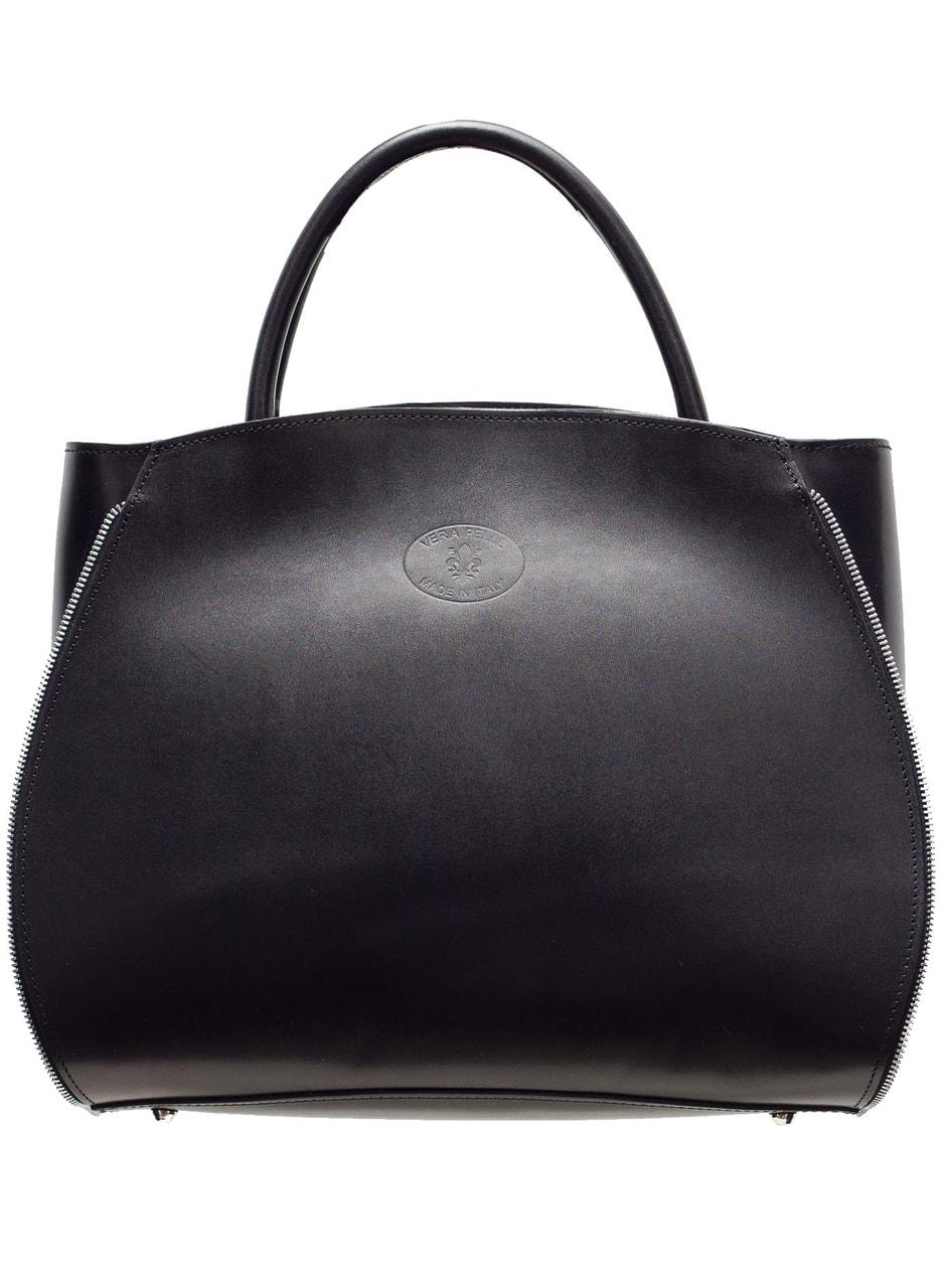 Kožená kabelka se stříbrným zipem - černá - Glamorous by GLAM ... eb66fb112d