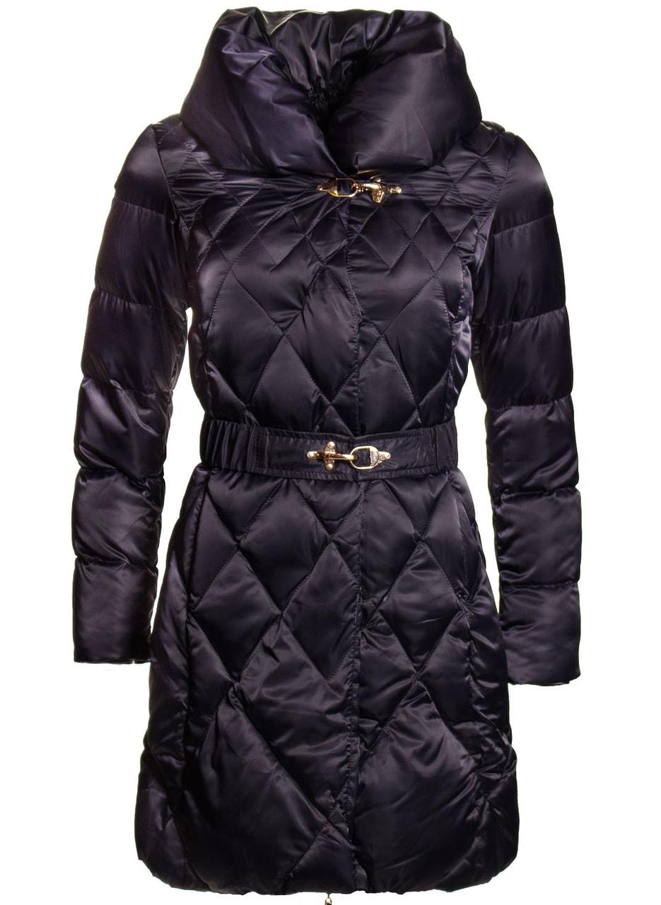 Glamadise.sk - Dámska zimná bunda lesklá s golierom a opaskom ... 88ef54df799