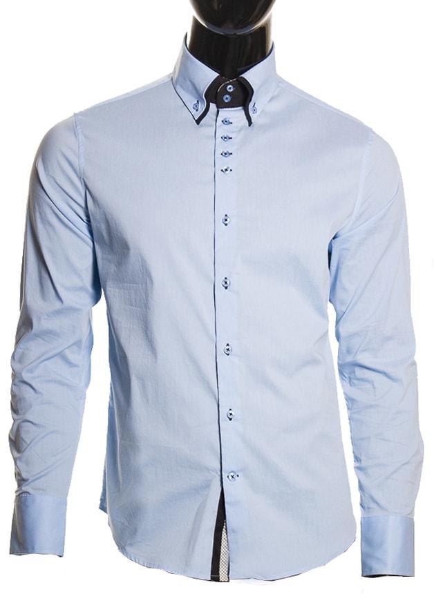 Pánská košile světle modrá - Pánské košile - Trička 9154a2a628