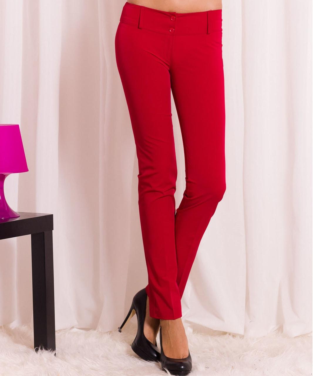 6aca0fe228d Dámské společenské kalhoty - červené - Kalhoty - Dámské oblečení ...