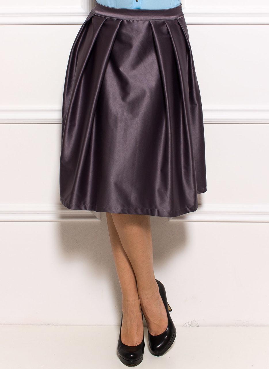 3655c8b1a26 Dámská lesklá sukně - šedá - Glamorous by Glam - Sukně - Dámské ...