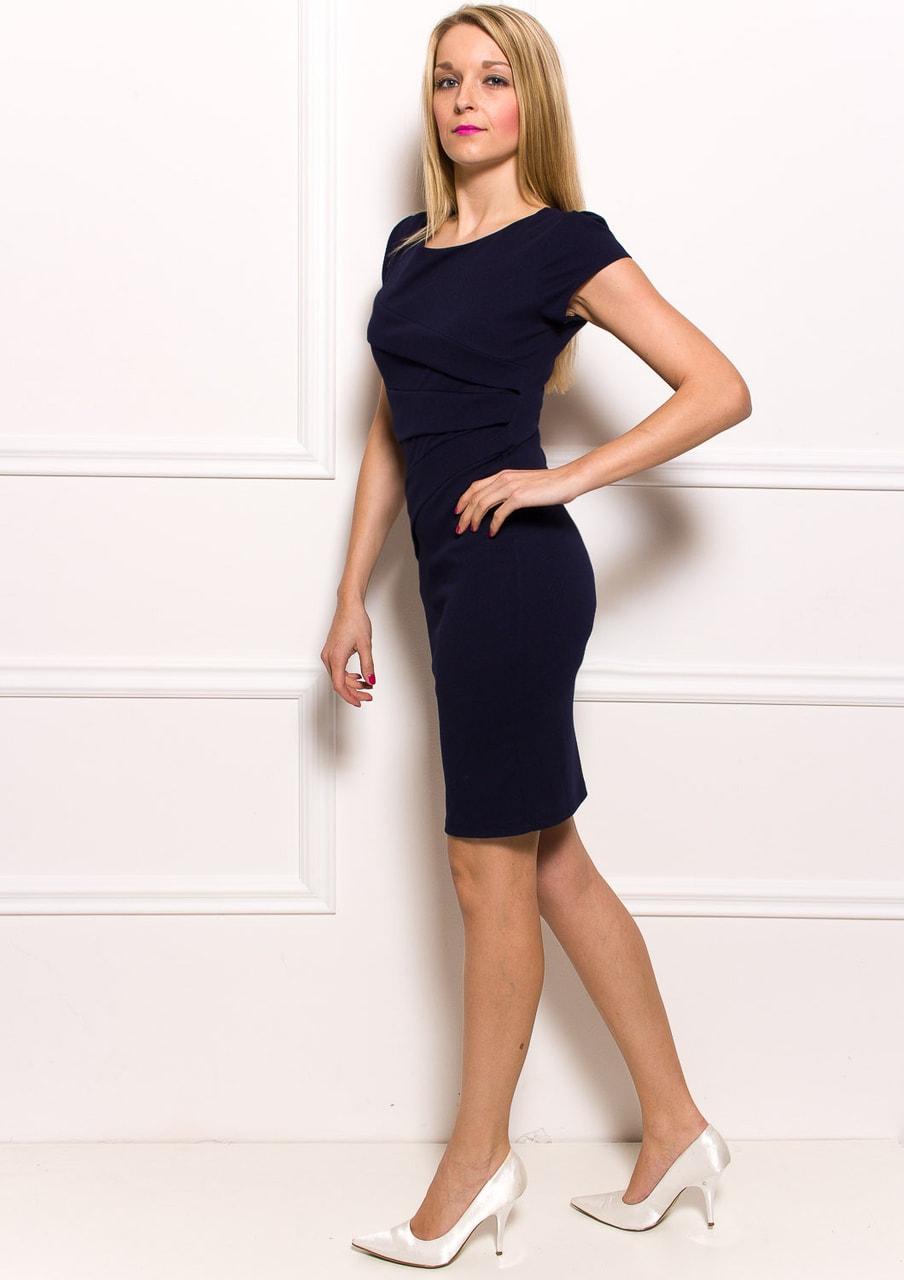 Dámské pouzdrové šaty se zdobením v pase - tmavě modrá - Glamorous ... a35fced88b