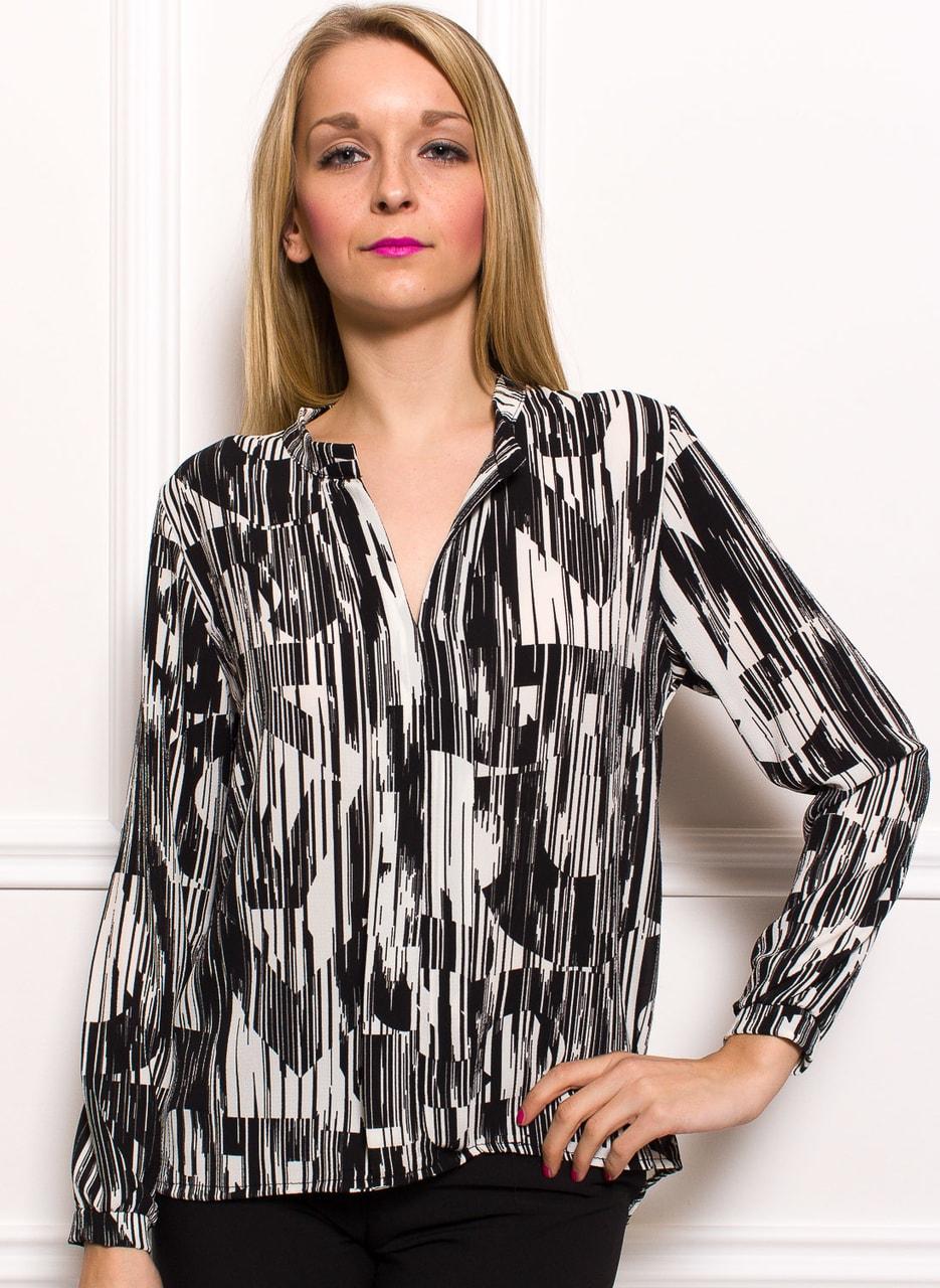Dámská halenka s dlouhým rukávem černo - bílá - Glamorous by Glam ... d5db26252b