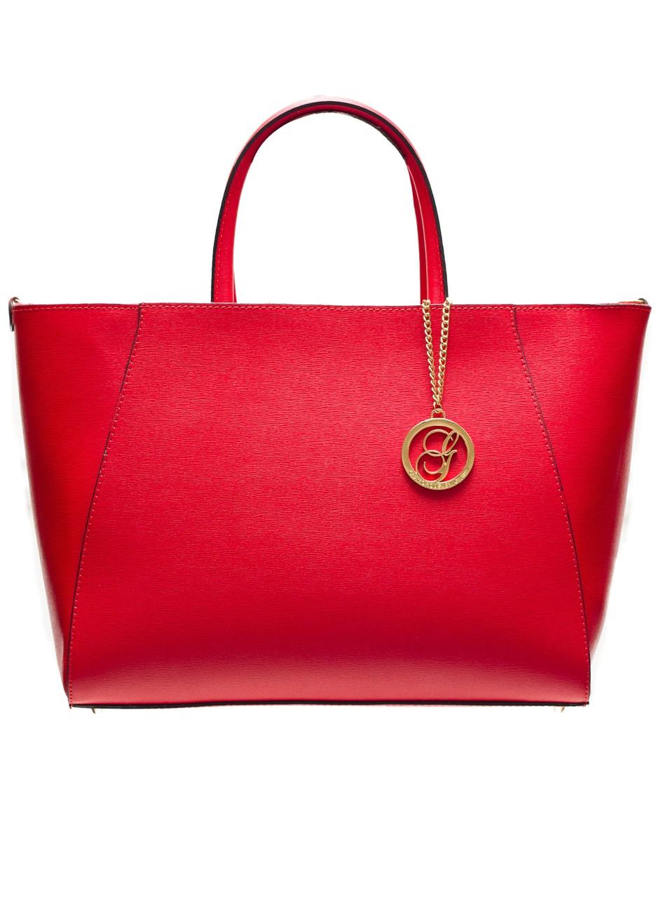 Kožená kabelka ze safiánové kůže jednoduchá - červená - Glamorous by ... 0d9a91ce83