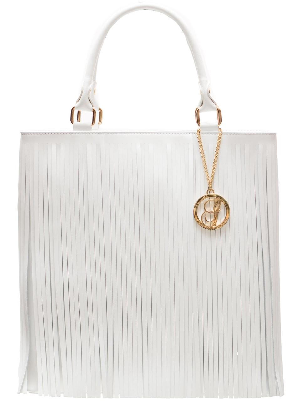12d7bc8154d Dámská kožená kabelka s třásněmi - bílá - Glamorous by GLAM - Do ...