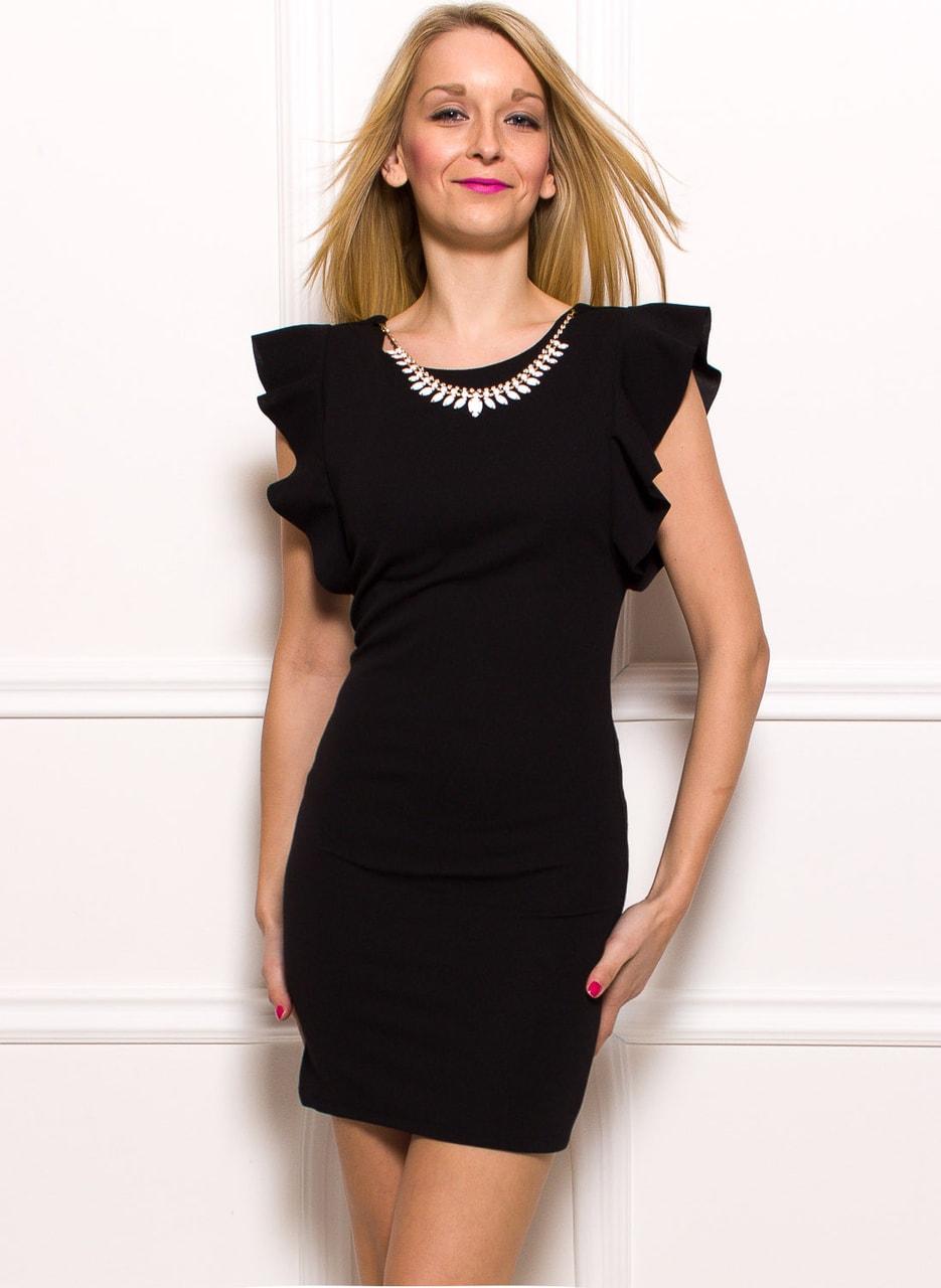 Dámské pouzdrové šaty s řetízkem - černá - Glamorous by Glam - Šaty ... 72836808c96
