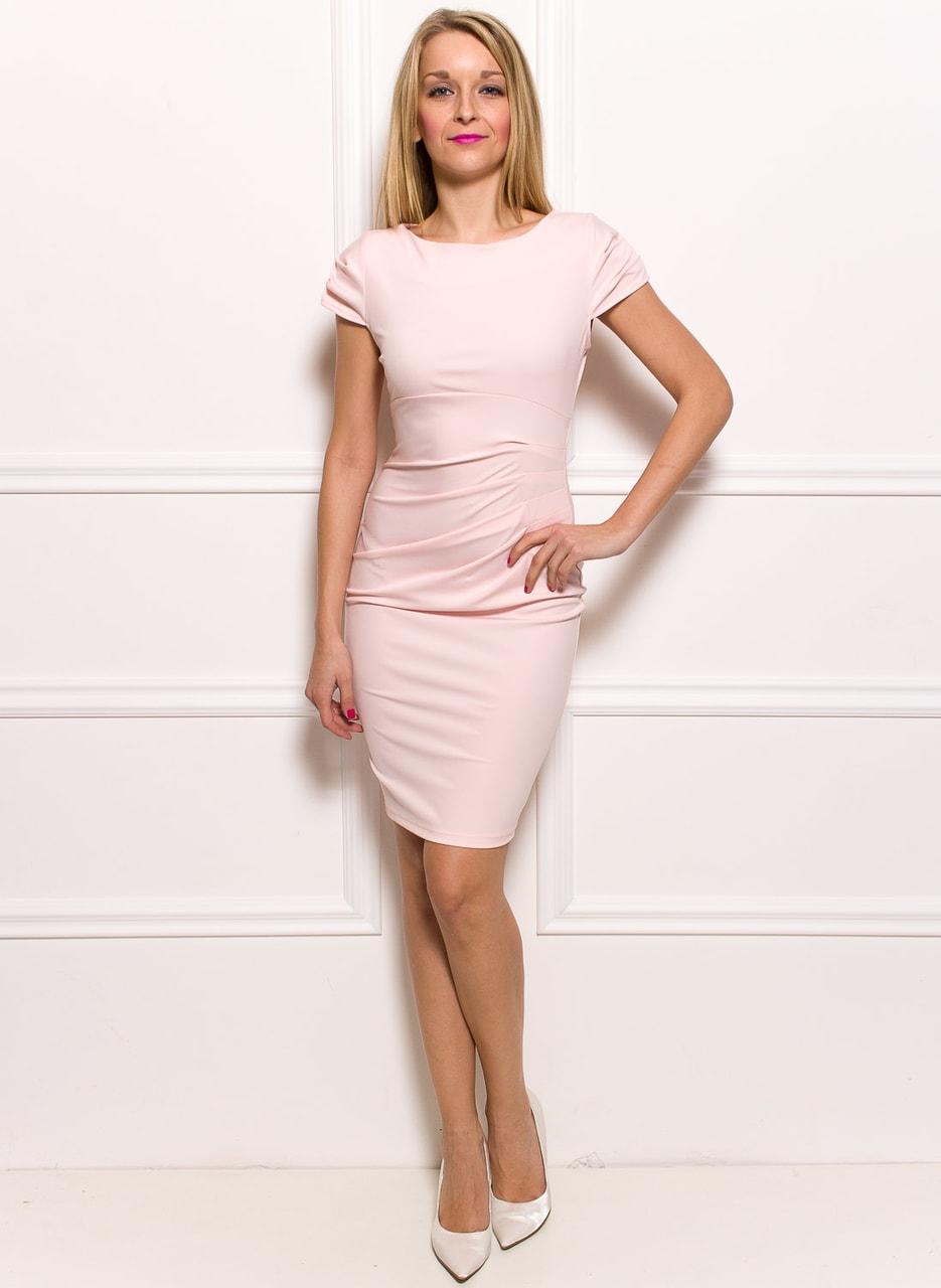 Dámské elegantní šaty s řasením na boku - světle růžové - Glamorous ... 061b73da5e3