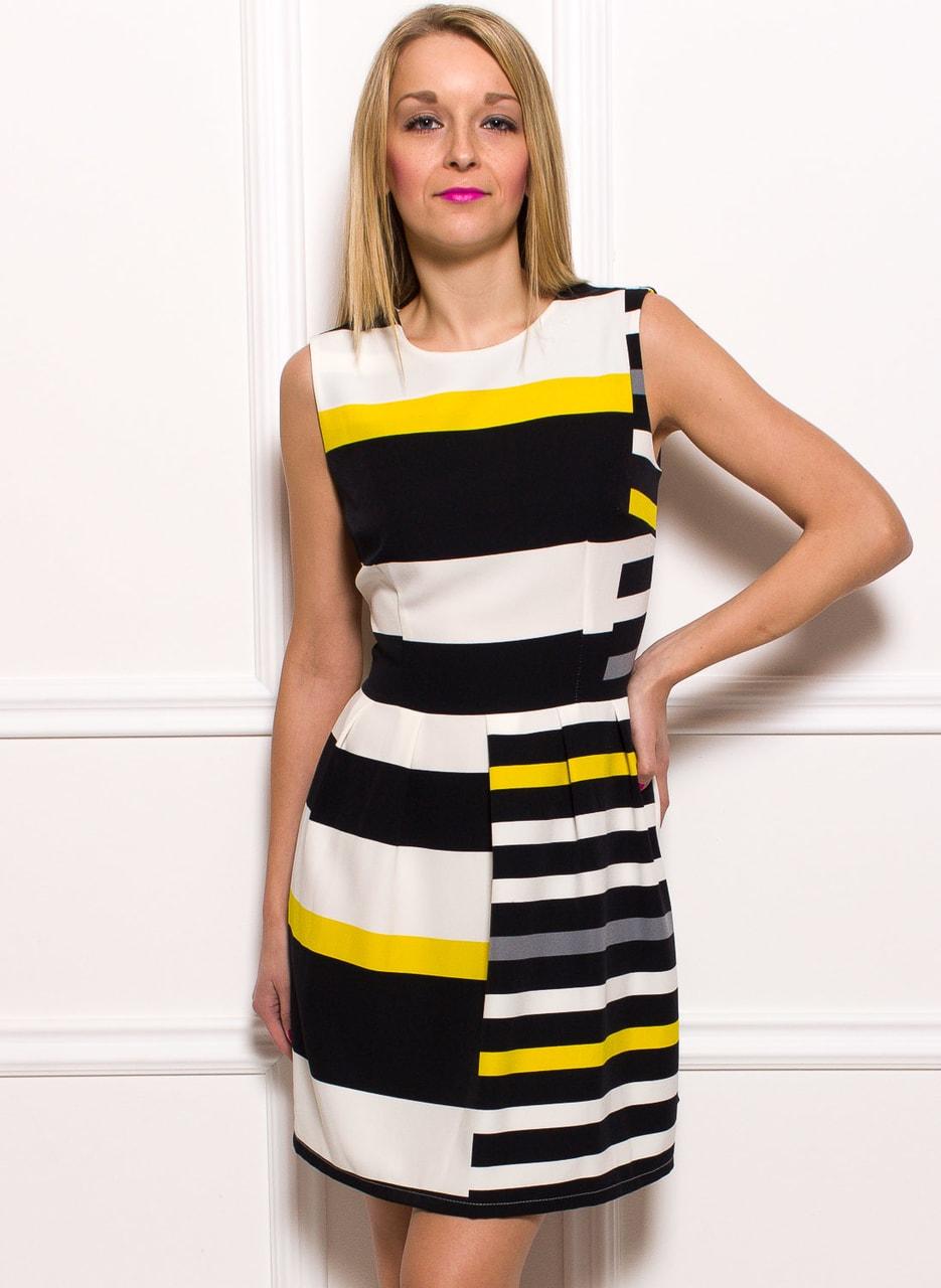 d9fa8c545507 Glamadise.sk - Dámske elegantné šaty so žltý pruhmi - Glamorous by ...