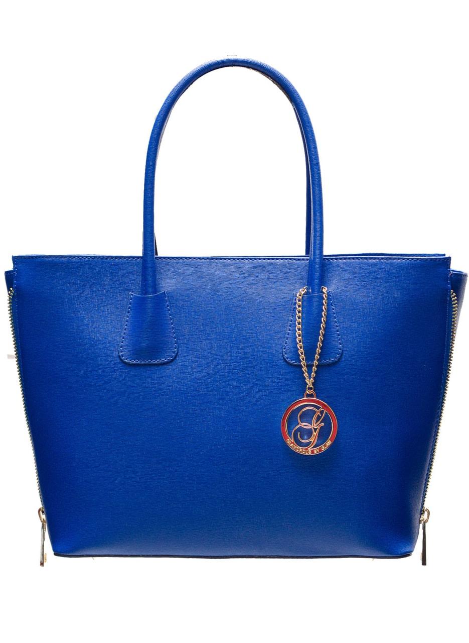 Glamadise.sk - Dámska kožená kabelka so zipsom na boku - Kráľovská ... ae747d77466