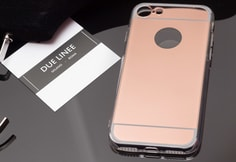 Kryt na Iphone 7/8 - lesklá rose gold