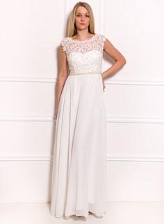 Společenské luxusní dlouhé šaty s krajkou a perličkami - bílá. Due Linee 6c91c632a7
