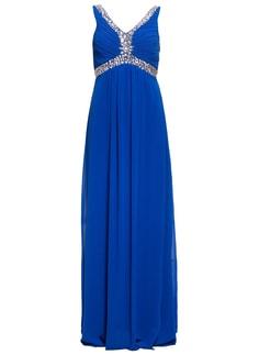 a8cc29f1930 Společenské dlouhé šaty s překříženými zády - modrá - Luccama ...