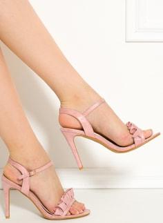 Dámské sandály na podpatku růžové - GLAM GLAMADISE shoes - Sandály ... 6858f74802