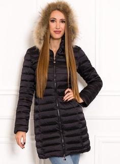Glamadise.sk - Jednoduchá dámska zimná bunda s pravou kožušinou ... 3e4fcf73aaf