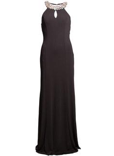 Dámské dlouhé šaty fuchsiové s vázáním - Glamorous by Glam - Dlouhé ... c7f71d0d1b