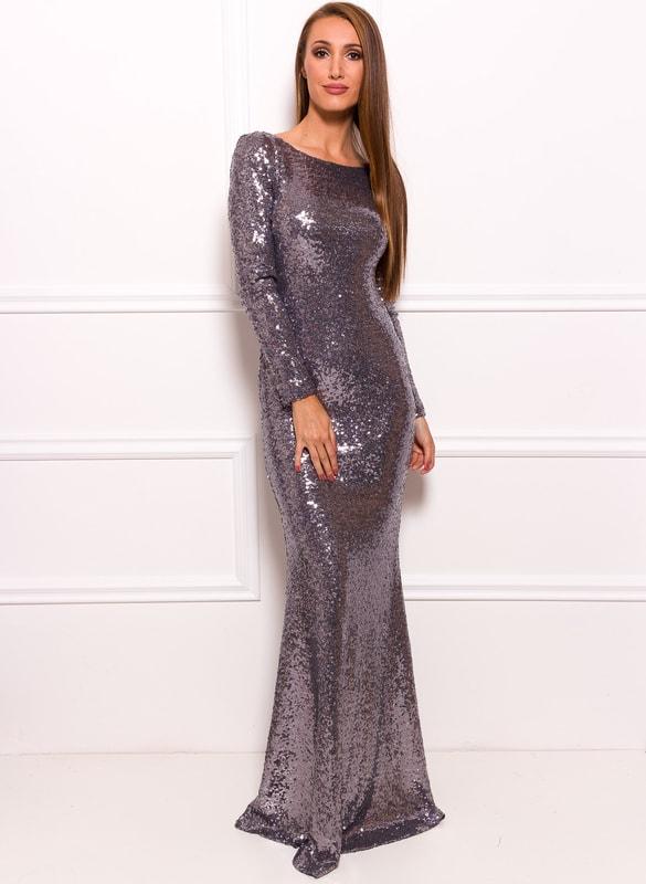 Glamadise.sk - Spoločenské luxusné dlhé šaty s flitrami a rukávy ... 3066e219f13