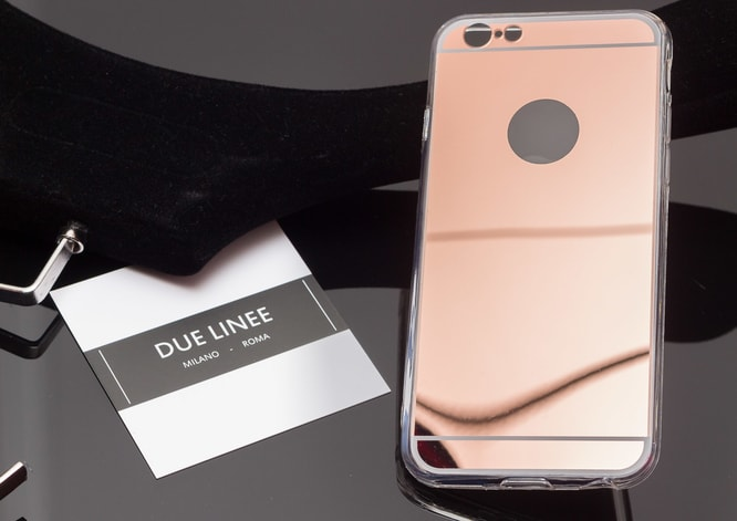 Kryt na Iphone 6/6S - lesklá - rose gold