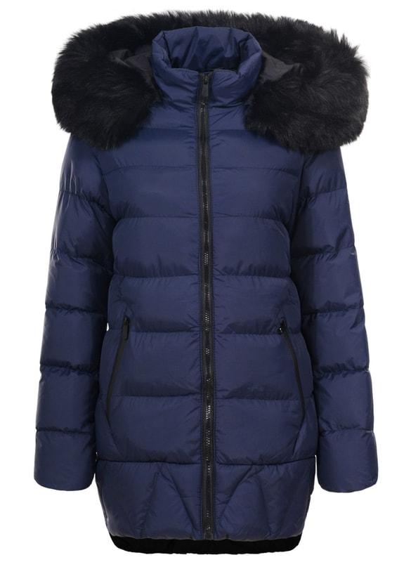 8f0ad7d564 Glamadise.hu Fashion paradise - Női téli kabát Due Linee - Sötétkék ...