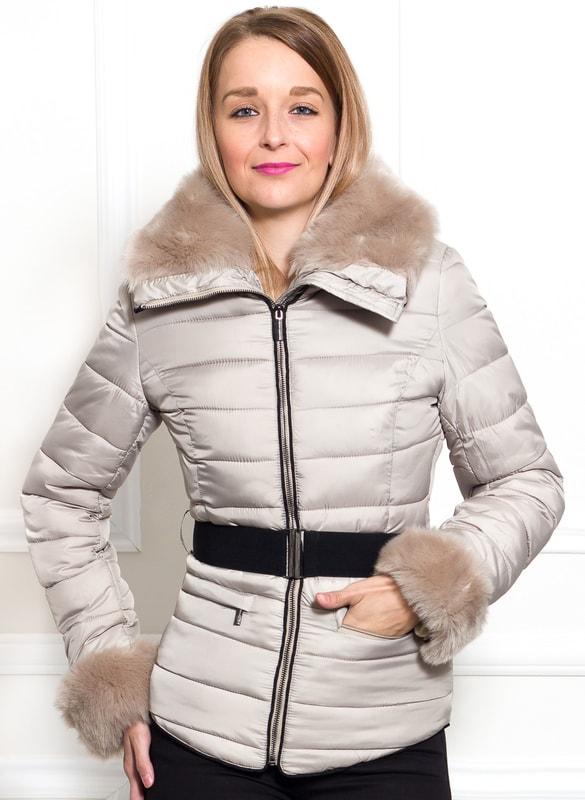 89d3404282 Glamadise.hu Fashion paradise - Női téli kabát Due Linee - Bézs ...