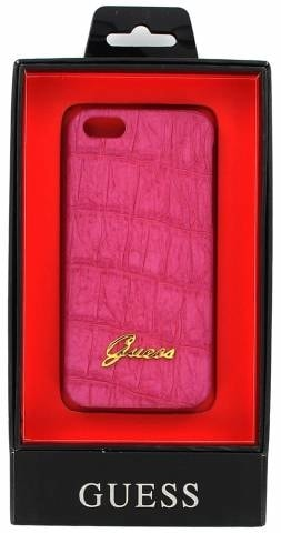 Guess kryt iPhone 5/5S/SE růžový croco