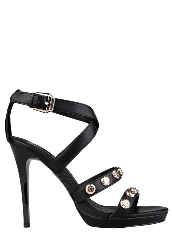 Glamadise.sk - Versace jeans sandále na podpätku čierne - Versace ... 97171e978e