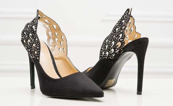 Dámské černé lodičky s křídly - GLAM GLAMADISE shoes - Poslední kusy ... a5f2a518d6