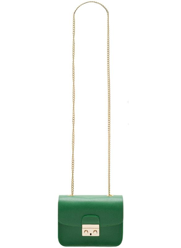 Glamadise.sk - Dámska kožená crossbody kabelka razená - zelená ... 95053b288e8